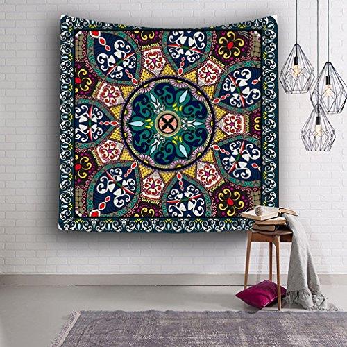 BOYANN Böhmen Mandala Indian Paisley Geometrisch Wandteppiche Vorhänge Wohndekorationen Muster 6 (Geometrische Teppich Paisley)