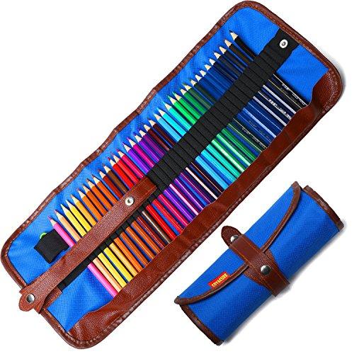 Buntstifte Set, 36 Brillanten Farben Bleistift Set mit Rollbaren Canvas Tasche für Kinder & Erwachsene