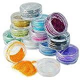 Bluelover 12 colori acrilico nail art Tips glitter polvere polveri