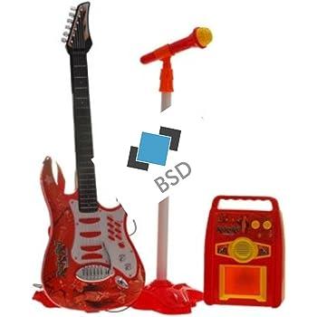 a414dcd4a7ebc0 Guitare acier enroulement - la première guitare - un jouet pour un enfant  en bas âge - amplificateur - rouge