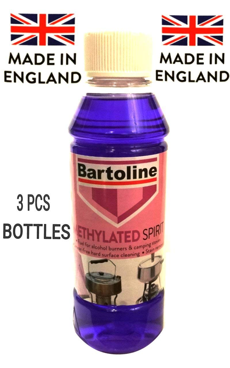 3 PCS METHYLATED SPIRIT 250ML New Fuel for Alcohol Burners & Camping STOVES