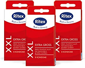 Ritex XXL Kondome, Extra groß, 24 Stück, Made in Germany