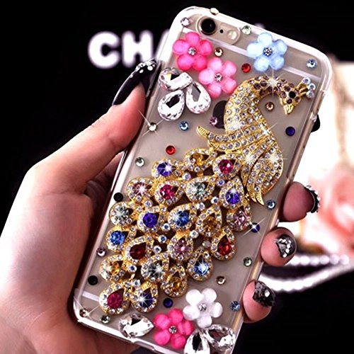 MOMDAD TPU Soft Etui pour iPhone 6S Plus Strass Coque iPhone 6 Plus TPU Silicone Coque iPhone 6 Plus Souple Etui pour iPhone 6 Plus/ 6S Plus 5.5 Pouces Anti-rayures et Anti-Choc Couverture Coquille Ar TPU-Strass-4