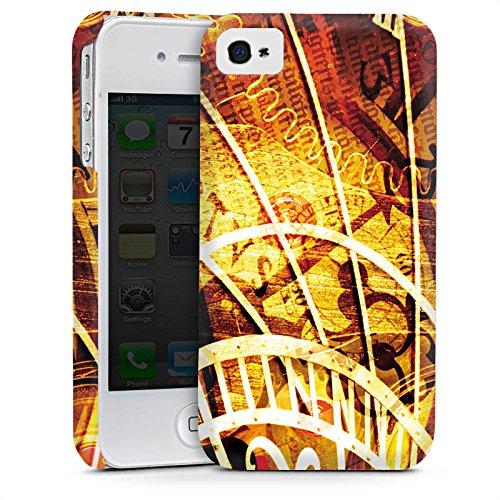 Apple iPhone 4 Housse Étui Silicone Coque Protection Montre Temps Vintage Rétro Collection Cas Premium mat
