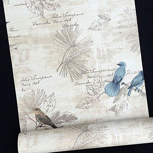 SimpleLife4U Blaue Vögel Kontaktpapier Handschrift Muster selbstklebend