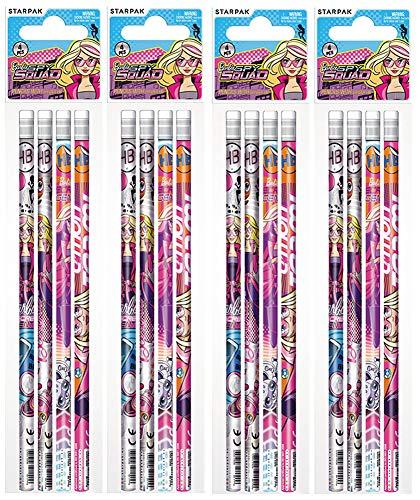 Barbie Spy Squad 16 teiliges Set Bleistifte mit Radiergummi Mitgebsel