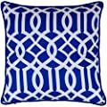 45 x 45cm Geometric Pattern Design Moroccan Tiles Cushion Arabesque Pillow Cover Decorator Covers Sofa Bed Gift Home Decor Cushion in Royal Blue - low-cost UK light shop.