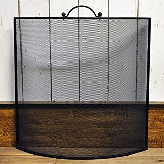 Black Metal Curved Fire Guard Screen Metal Panel Fireguard for Fireplace
