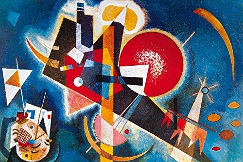 Wassily Kandinsky - nel Blù, 1925 Carta da Parati Adesiva (180 x 120cm)