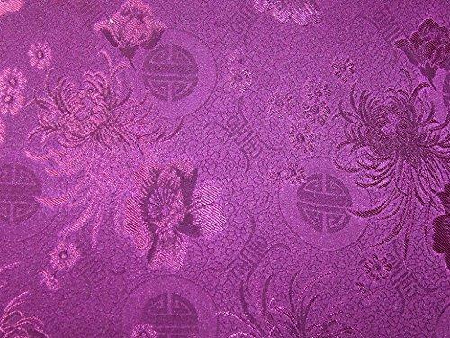 Oriental Floral Weave Brokat Kleid Stoff lila-Meterware