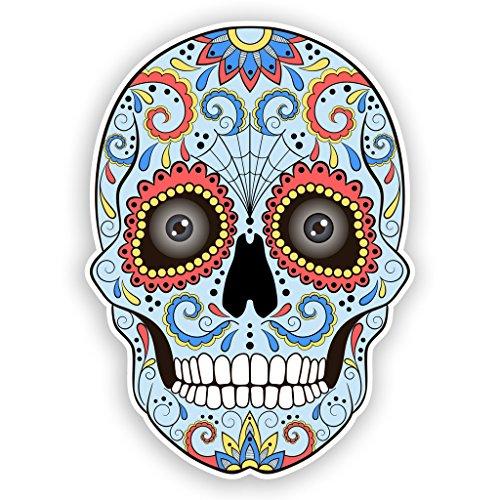 2x Pegatinas de vinilo de azúcar de calavera con ojos México...