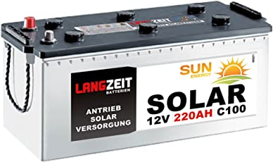 Solarbatterie 220Ah 12V Wohnmobil Boot Wohnwagen Camping Schiff Batterie Solar 180Ah