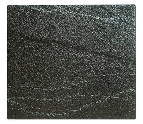 UrbanDesign XL Glas Herdabdeckplatte Herdabdeckung Schneidebrett Abdeckplatte für Ceranfeld Induktionsfeld Schiefer Optik Kochfeld Abdeckung Spritzschutz Herdblende