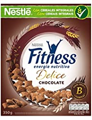 Cereales Nestlé Fitness Delice - Cereales de trigo, maíz y arroz tostados con cacao rellenos