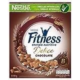 Nestlé Fitness - Cereales de Trigo, Maíz y Arroz Rellenos de Chocolate - 4 Paquetes de 350 g