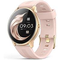 Smartwatch, AGPTEK 1,3 Zoll Armbanduhr mit personalisiertem Bildschirm, Musiksteuerung, Herzfrequenz, Schrittzähler…