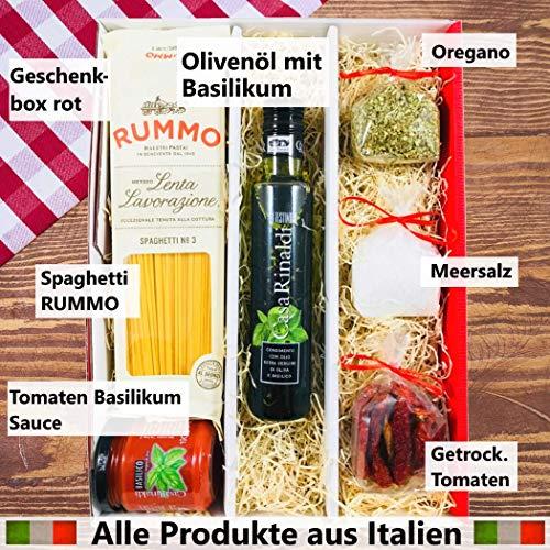 geschenkpaket gusto italiano rotwein pasta tricolore all 39 arrabiata gew rzmischung 1 x. Black Bedroom Furniture Sets. Home Design Ideas