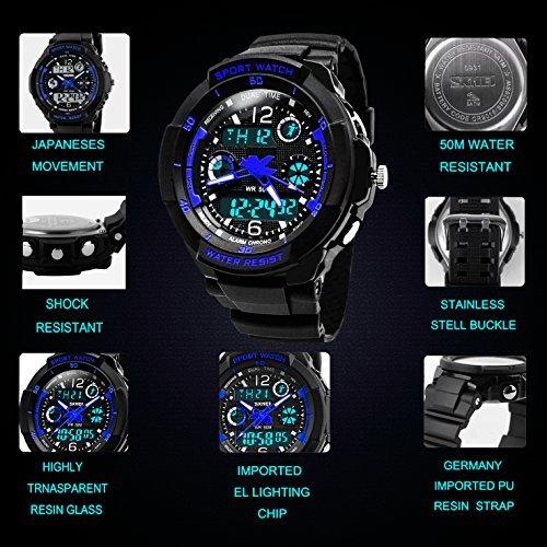 a basso prezzo 1e0f5 fc18e Bambini Digital orologi per ragazzi, outdoor sport analogico ...