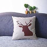 Luxbon Rot Elk Deer Moose Kissenbezug Kissen Fall Sofa Taille Throw Cover Pillowcase Huelle Couch Stuhl Auto Haus Deko 45 x 45 cm