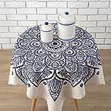 Paño de mesa transparente Mantel de algodón, más grueso Mantel de tela de algodón Mesa de comedor Inicio pequeño Fresco cuadrado de mesa redonda Tabla de café Mantel Tela de cubierta ( Color : C , Tamaño : 85*85cm )