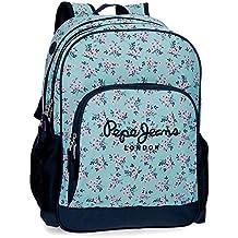 Pepe Jeans Denise Mochila escolar, 21.6 litros, 45 cm, Azul