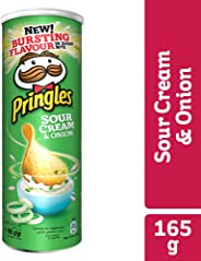 Pringles Sour Cream & Onion Flavored Chips 165g Can
