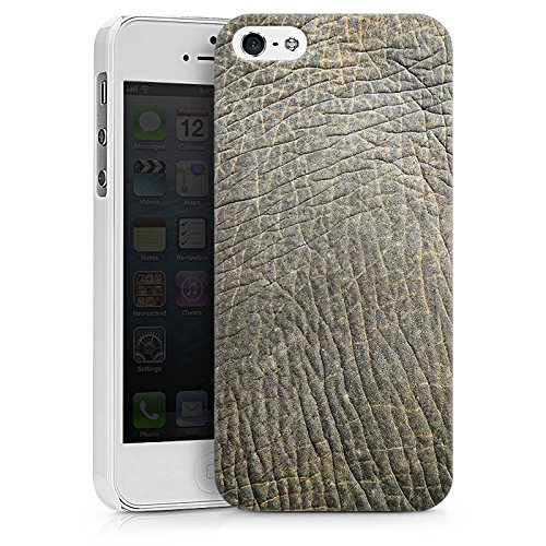 Apple iPhone X Silikon Hülle Case Schutzhülle Elefantenhaut Look Tierhaut Muster Struktur Hard Case weiß