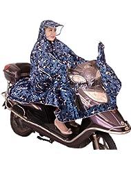 Mujeres Hombres Bicicleta Ciclismo ciclo cabo Poncho perchero de pared de lluvia impermeable capa de lluvia Poncho impermeable de alta calidad no funda raincoats para motocicleta moto bicicleta ciclo chaqueta impermeable equitación, morado