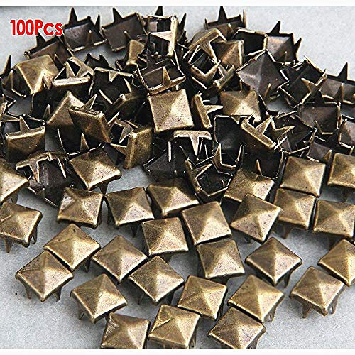 Beito 100 x 8 mm Metall Nieten Pyramiden Basteln Nieten in Bronze Gothic