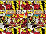 Camelot Stoffe Marvel Comics Quilting Stoff Iron Man Rot &