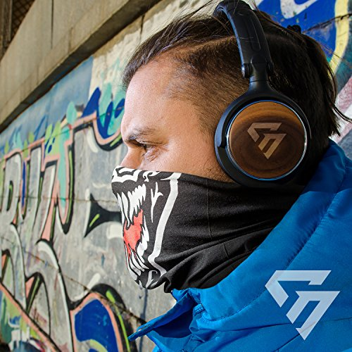 Qualitatives Multifunktionstuch / Motorrad Totenkopf Maske / Face Shield / Sturmmaske - fürs Fahrrad / Ski / Snowboard / Paintball / Klettern / Wandern - [Grinsekatze / Muster] - 5