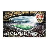 VfB Stuttgart Fußmatte Willkommen / Heimspiel / Sauberle Größe ca. 73 x 45 cm (Bild der Mercedes Benz Arena) mit Wappen
