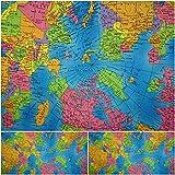 DIE NÄHZWERGE Baumwollstoff Motivkollektion Weltkarte -