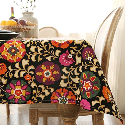 Met Love Tischdecke Stoff Baumwolle Hanf Stoff Kunst Einfache rechteckige Tee-Tabelle Hochzeit Restaurant Party Tisch (Dieses Produkt verkauft nur Tischtücher) (größe : 100 * 160cm) -