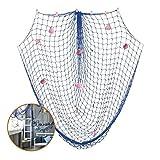 YoungRich Mittelmeer Art Fischernetz Deko mit Muscheln Runden Klotz Nautischen