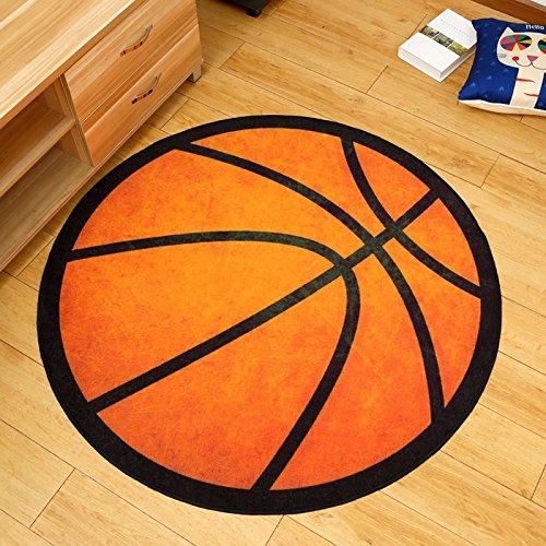 Qaz-x.l Personalisierte Fashion Basketball Fan runde Teppiche Schlafzimmer Wohnzimmer Teppiche Teppiche Computer Stuhl Sofa Couchtisch Teppiche Home Essentials rutschhemmend Teppiche, 40 cm