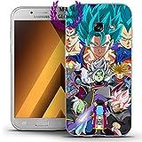 MIM Global Etuis Coque Samsung A Series Dragon Ball Z Super GT European Version Case Cover - Haute Qualite - Goku - Gohan Vegeta - Dbs - DBZ - DBGT (Samsung A7 2016, Future Arc)