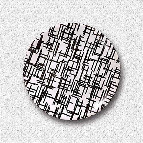 shovv Kreative Keramik Teller Wanddekoration Der Modernen Minimalistischen Art Kreative Wandschmuck Der Keramischen Hängenden Platte Der Wand Hängen Dekorative Platte