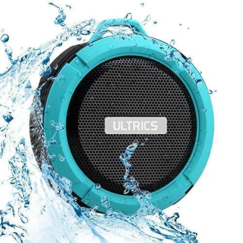 ULTRICS® Altavoz Bluetooth, Altavoz portátil wirezoll para exteriores / ducha con IPX4 impermeable 4.0 Tecnología Construido en micrófono manos libres con ventosa para iPhone Android PC- Azul