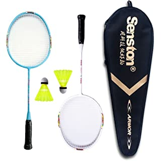 Senston Graphite Mini Badminton Set Junior Badminton Racket Kit Outdoor Sport Game Set,Gifts for Kids 3 Choices
