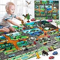 Leayao Baby Play Mat Map Traffic Road Game Floor Mat Carpet Kids Educational Toy (130 x 100cm)