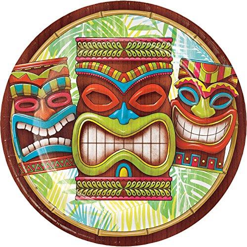 Neu 2018: 8 Teller * Tiki TIME * zur Hawaii- & Südsee-Mottoparty // Maori Party Geburtstag Kindergeburtstag Pappteller Partyteller Plates