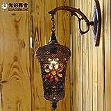 Vanme Thai Spiegel Lampe Leuchte Nachttischlampe Schlafzimmer Balkon Badezimmer Wandfarbe Kristall Wandleuchten