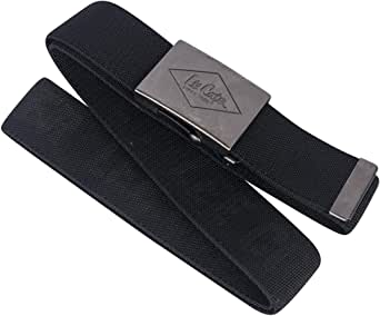 Lee Cooper Mens Canvas Webbing Work Safety Pant Belt, Black, One Size