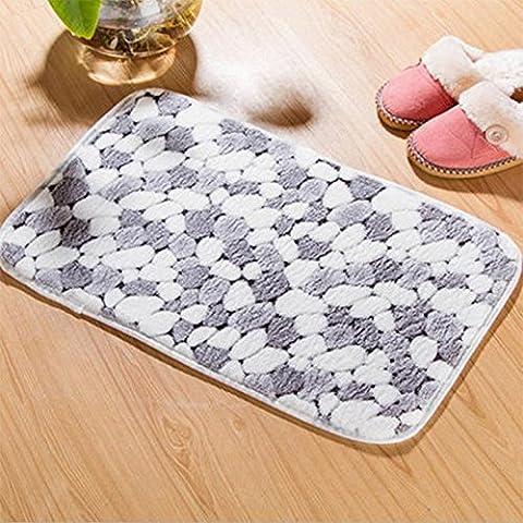 GUO-Spesso corallo del panno morbido letto stuoie tappeto del corridoio cucina e bagno antiscivolo pad assorbente soggiorno porta stuoia mats40 * 60cm