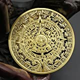 Münzen Sammlung Gedenkmünze Mexican Maya Kalender Plated (Golden)