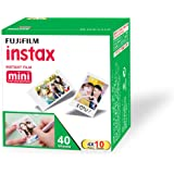 Fujifilm Instax Mini Picture Format Film - Value Pack 40 Shots Films (White)