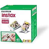 Fujifilm Instax Mini Picture Format Film - Value Pack 40 Shots Films (White)