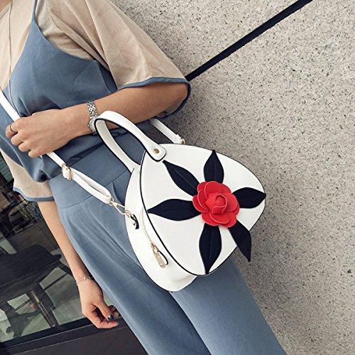 Fabelhaft Koreanische Art Und Weise Dreidimensionale Blumen-Handtasche White