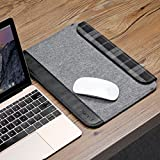 Inateck Ultra Slim 12 Inch New MacBook Case Sleeve Cover with Magnetic Closure for Apple New Macbook 12, A Small Pouch Included, Grey Bild 6